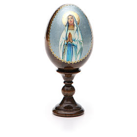 Russian Egg Our Lady of Lourdes découpage 13cm s5