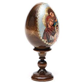 Oeuf peint icône Russie Sainte Famille h tot. 13 cm s4