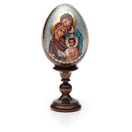 Oeuf peint icône Russie Sainte Famille h tot. 13 cm 5