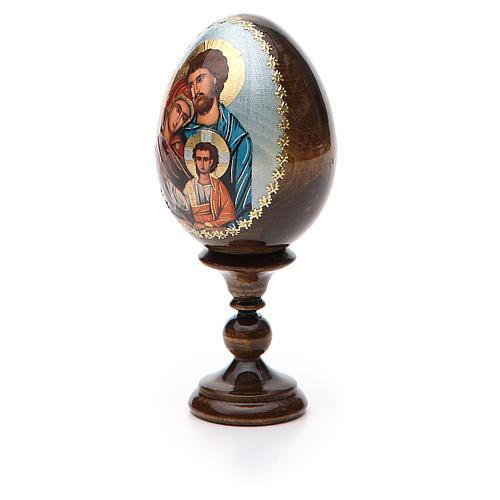 Oeuf peint icône Russie Sainte Famille h tot. 13 cm 6