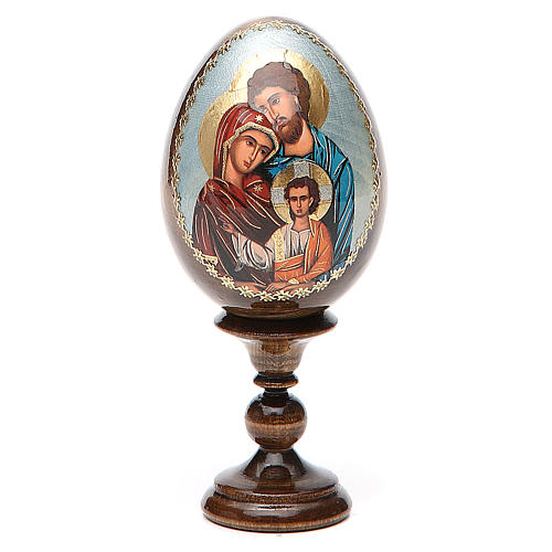 Oeuf peint icône Russie Sainte Famille h tot. 13 cm 1
