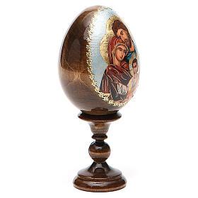 Uovo Russia Sacra Famiglia découpage h tot. 13 cm s12