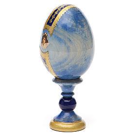 Uovo icona découpage Pantocratore h tot. 13 cm stile Fabergè s3