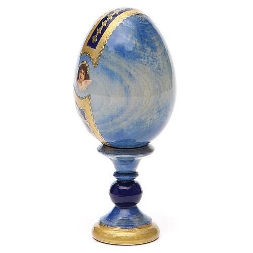 Uovo icona découpage Pantocratore h tot. 13 cm stile Fabergè 3
