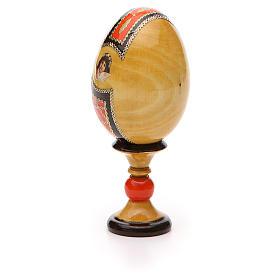 Russian Egg Kazanskaya découpage Fabergè style 13cm s7