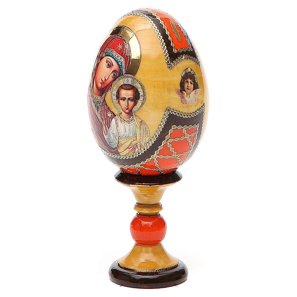 Jajko ikona decoupage Kazanskaya wys. całk. 13 cm styl Faberge' 4