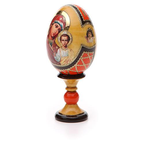 Jajko ikona decoupage Kazanskaya wys. całk. 13 cm styl Faberge' 6