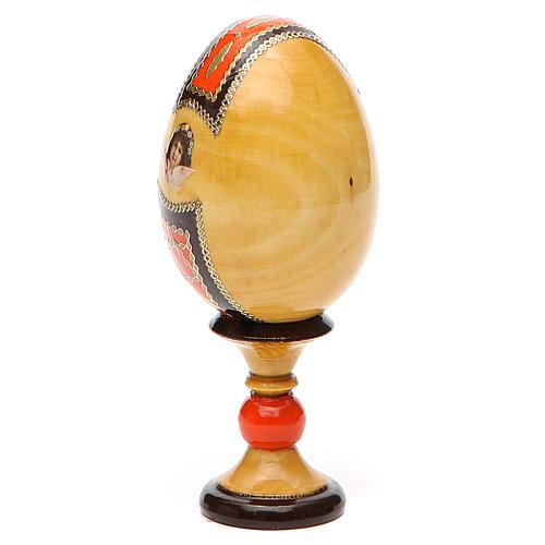 Jajko ikona decoupage Kazanskaya wys. całk. 13 cm styl Faberge' 11
