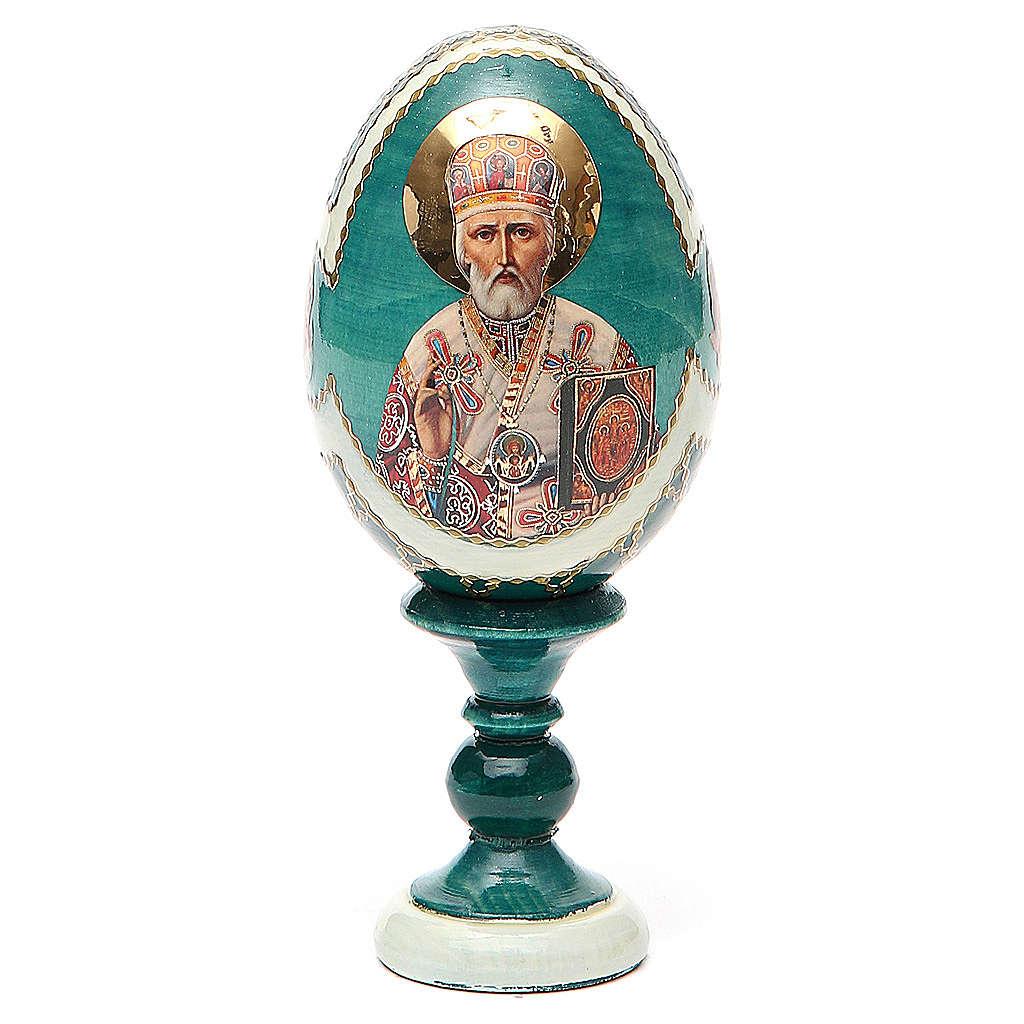Russian Egg St. Nicholas découpage Fabergè style 13cm 4