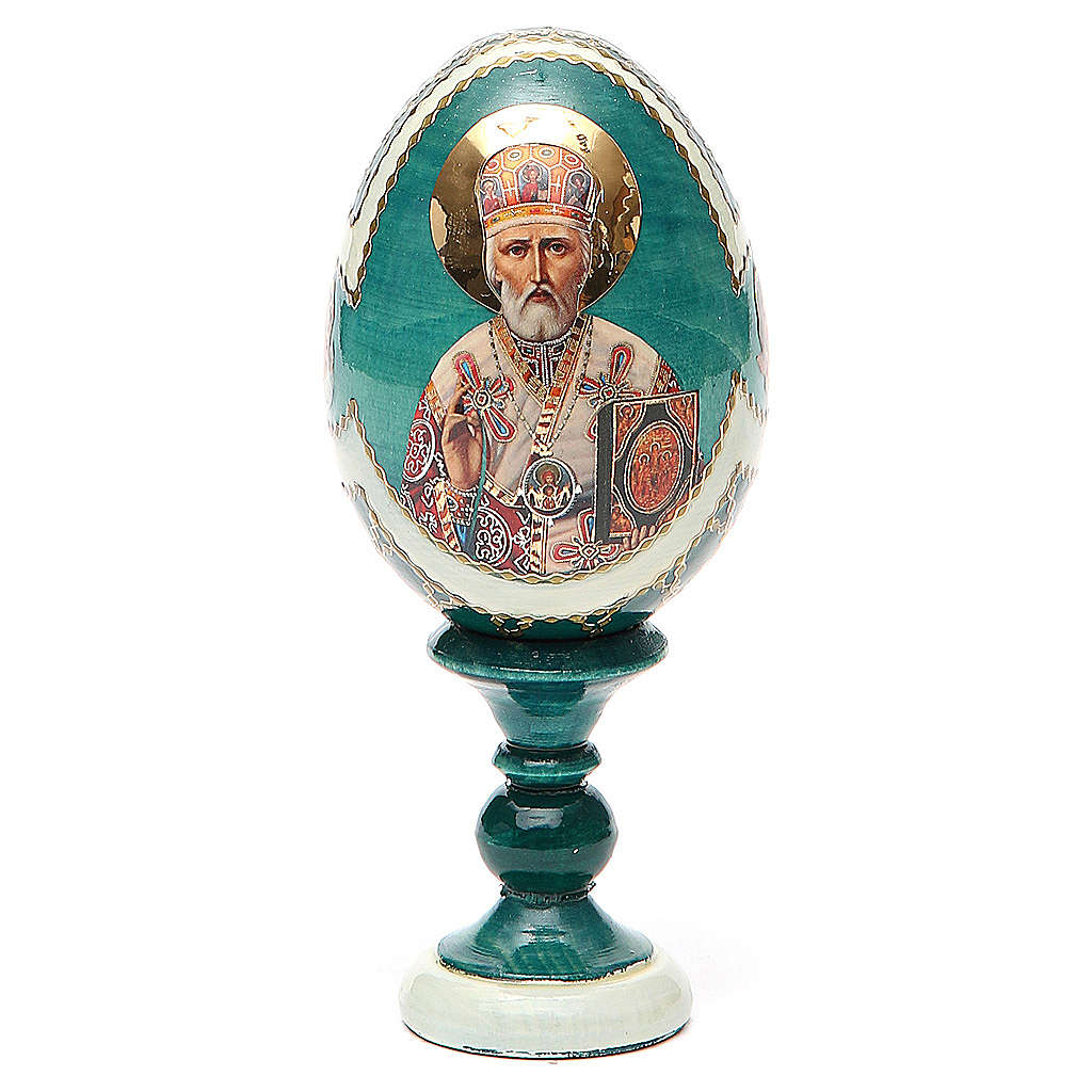 Oeuf Russie Saint Nicolas h 13 cm 4