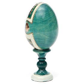 Uovo icona découpage San Nicola h tot. 13 cm stile Fabergé s11