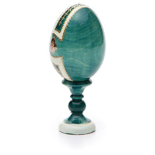 Uovo icona découpage San Nicola h tot. 13 cm stile Fabergé 7
