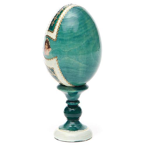 Uovo icona découpage San Nicola h tot. 13 cm stile Fabergé 11