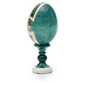 Russian Egg St. Nicholas découpage Fabergè style 13cm s7