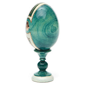 Uovo icona découpage Giglio Bianco h tot. 13 cm stile Fabergé s11