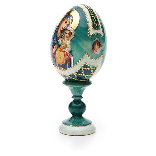 Uovo icona découpage Giglio Bianco h tot. 13 cm stile Fabergé 6
