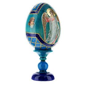 Uovo icona Russa Angelo Custode h tot. 13 cm stile Fabergé s4