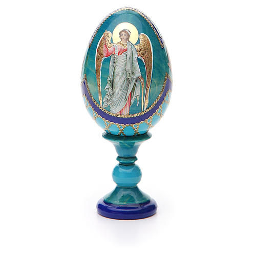 Russian Egg Guardian Angel Fabergè style 13cm 5