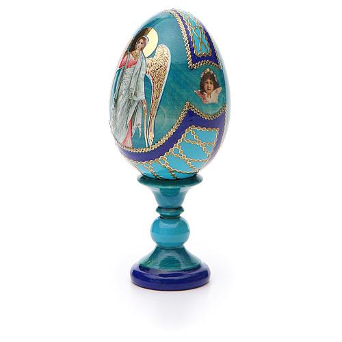 Russian Egg Guardian Angel Fabergè style 13cm 6