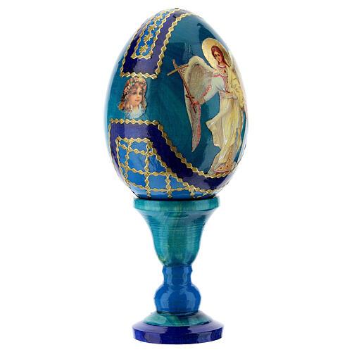 Russian Egg Guardian Angel Fabergè style 13cm 3