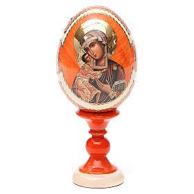 Uovo icona Russa Feodorovskaya h tot. 13 cm stile Fabergé s9