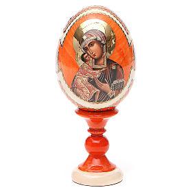 Uovo icona Russa Feodorovskaya h tot. 13 cm stile Fabergé s1