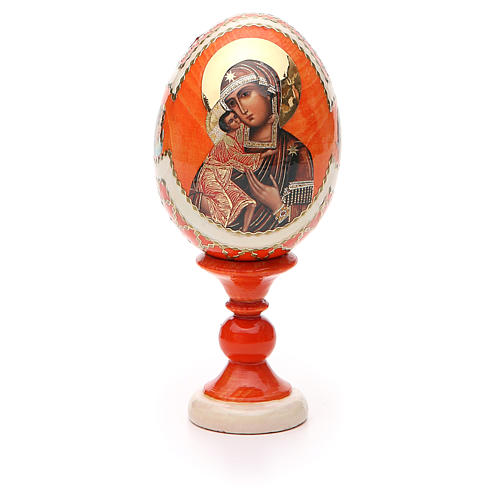 Russian Egg Feodorovskaya Fabergè style 13cm 5
