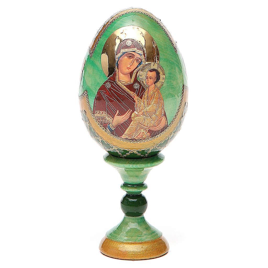 Uovo icona Russa Tikhvinskaya h tot. 13 cm stile Fabergé 4