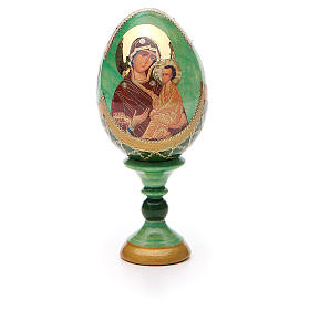 Uovo icona Russa Tikhvinskaya h tot. 13 cm stile Fabergé s5