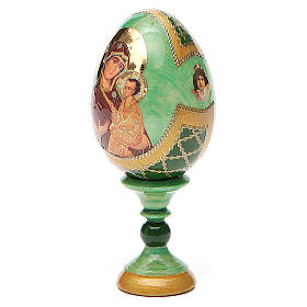 Uovo icona Russa Tikhvinskaya h tot. 13 cm stile Fabergé s2