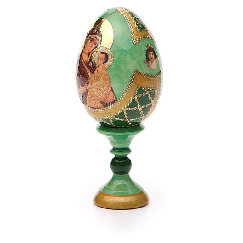 Uovo icona Russa Tikhvinskaya h tot. 13 cm stile Fabergé 6