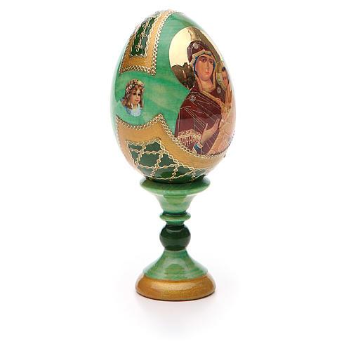 Uovo icona Russa Tikhvinskaya h tot. 13 cm stile Fabergé 8