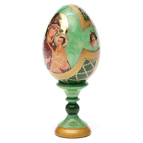 Uovo icona Russa Tikhvinskaya h tot. 13 cm stile Fabergé 10