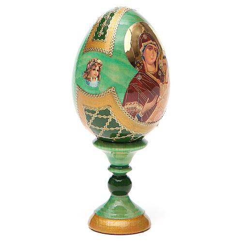 Uovo icona Russa Tikhvinskaya h tot. 13 cm stile Fabergé 12