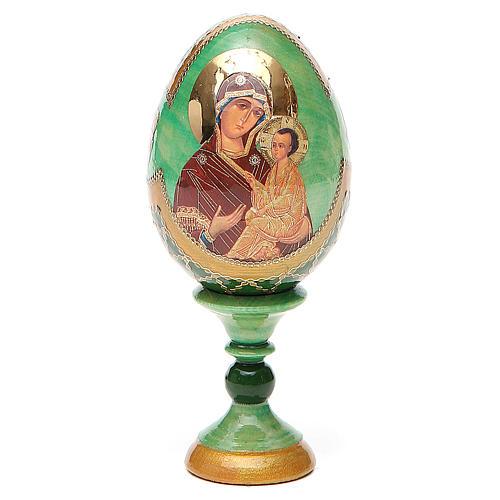 Uovo icona Russa Tikhvinskaya h tot. 13 cm stile Fabergé 1