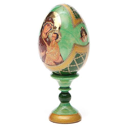 Uovo icona Russa Tikhvinskaya h tot. 13 cm stile Fabergé 2