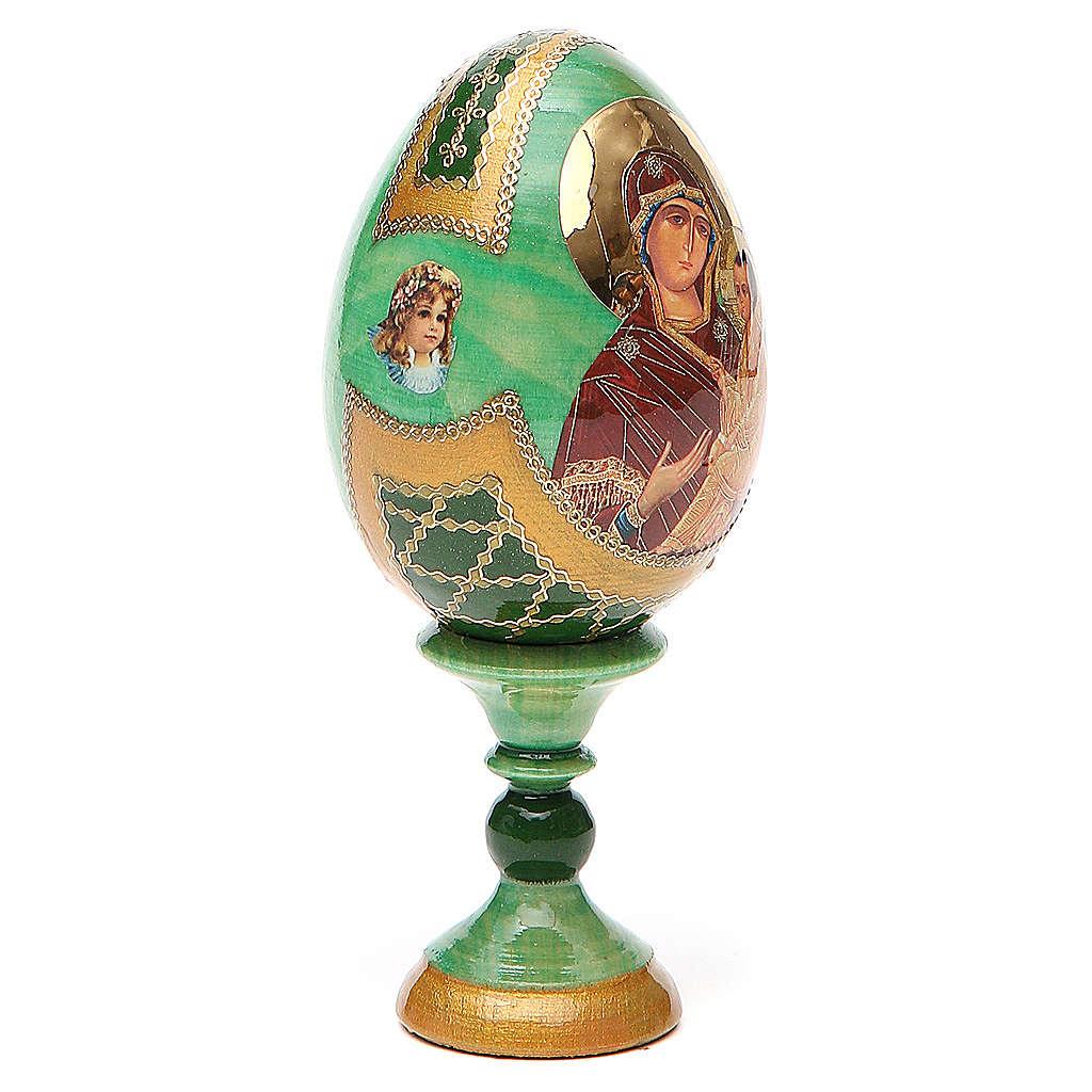 Russian Egg Tikhvinskaya Fabergè style 13cm 4