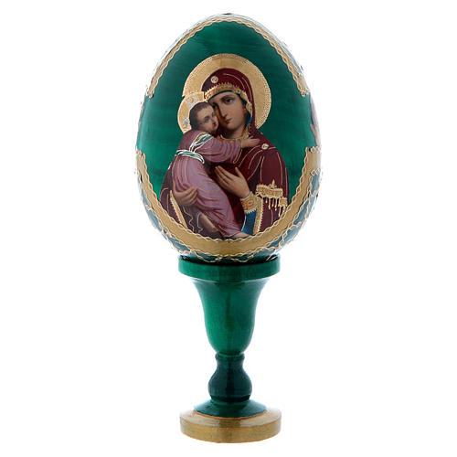 Uovo icona Russa Vladimirskaya h tot. 13 cm stile Fabergé 1