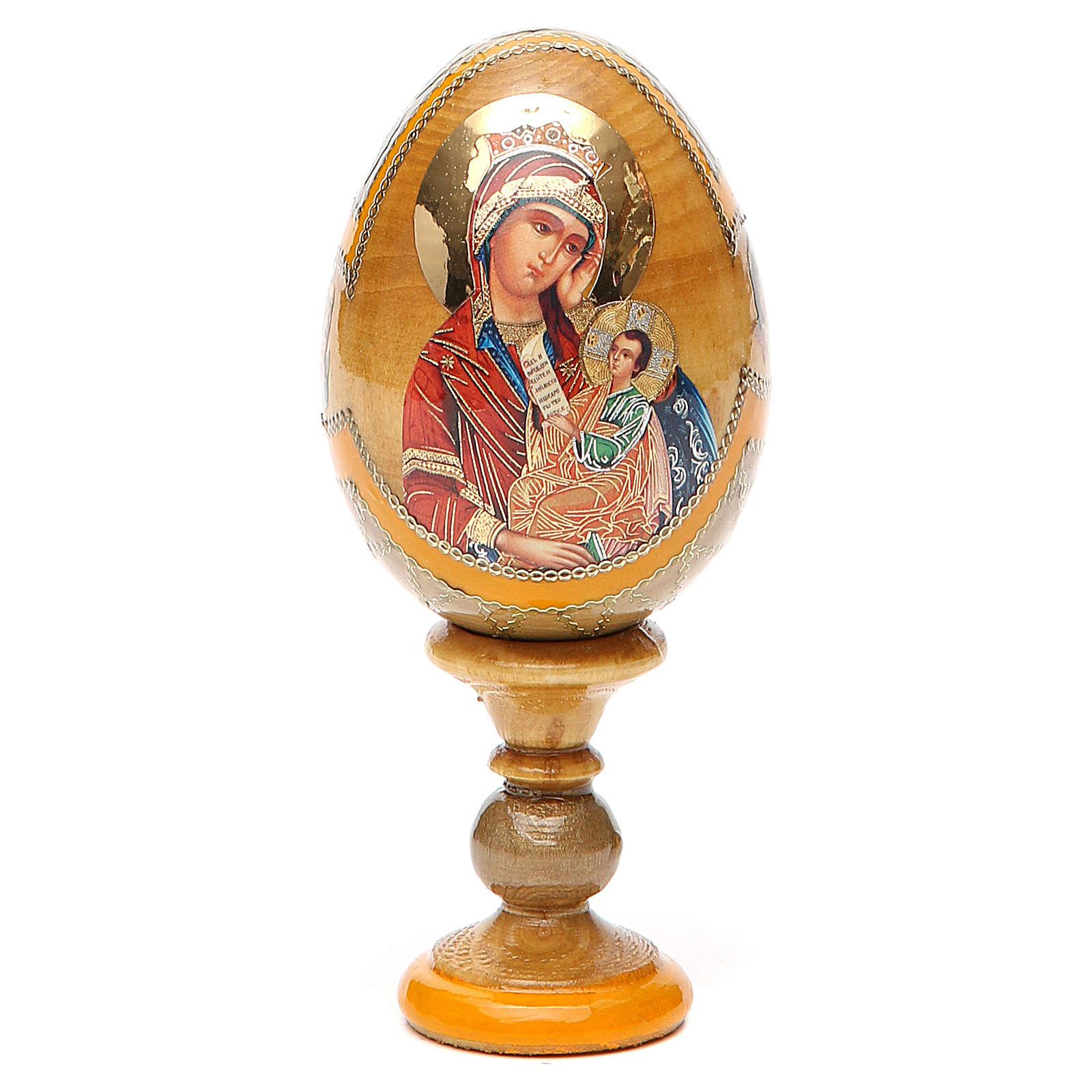 Uovo icona Russa Placa la mia tristezza h tot. 13 cm stile Fabergé 4