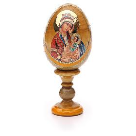 Uovo icona Russa Placa la mia tristezza h tot. 13 cm stile Fabergé s5