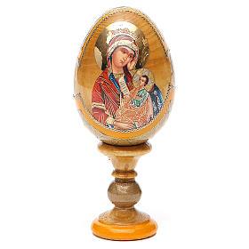 Uovo icona Russa Placa la mia tristezza h tot. 13 cm stile Fabergé s9