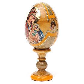Uovo icona Russa Placa la mia tristezza h tot. 13 cm stile Fabergé s2