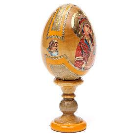 Uovo icona Russa Placa la mia tristezza h tot. 13 cm stile Fabergé s4