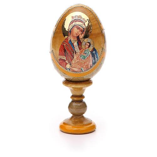 Uovo icona Russa Placa la mia tristezza h tot. 13 cm stile Fabergé 5