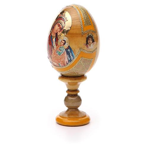 Uovo icona Russa Placa la mia tristezza h tot. 13 cm stile Fabergé 6