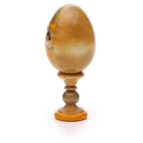 Uovo icona Russa Placa la mia tristezza h tot. 13 cm stile Fabergé 7
