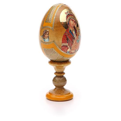 Uovo icona Russa Placa la mia tristezza h tot. 13 cm stile Fabergé 8