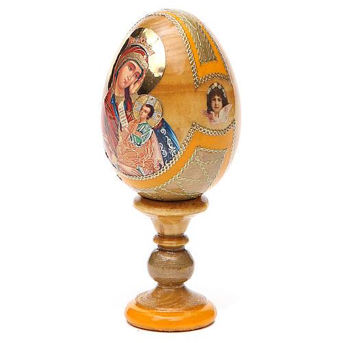 Uovo icona Russa Placa la mia tristezza h tot. 13 cm stile Fabergé 10