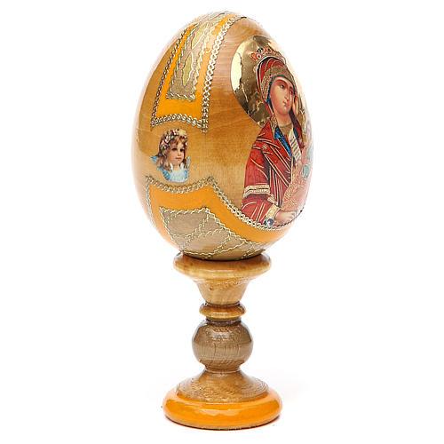 Uovo icona Russa Placa la mia tristezza h tot. 13 cm stile Fabergé 12