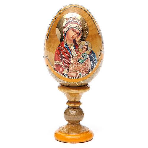 Uovo icona Russa Placa la mia tristezza h tot. 13 cm stile Fabergé 1